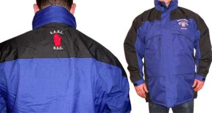Club Winter Coat with embroided badge